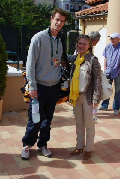 Lynne and Andy Murray